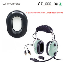 Linhuipad 1 pairs Replacement Comfort Gel Undercut Earseal ear cushions earpads covers for David Clark H10-Series headsets