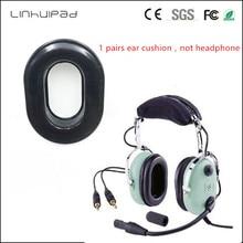 Linhuipad 1 pairs استبدال الراحة جل انزلاقي سدادة الأذن وسائد الأذن وسادات الأذن يغطي لسماعات ديفيد كلارك H10 Series
