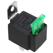 Auto Interior Switches 1pc 12V Relay 4 PIN Automotive 30AMP RY28 Normally Open Contact+30A Fuse цена 2017