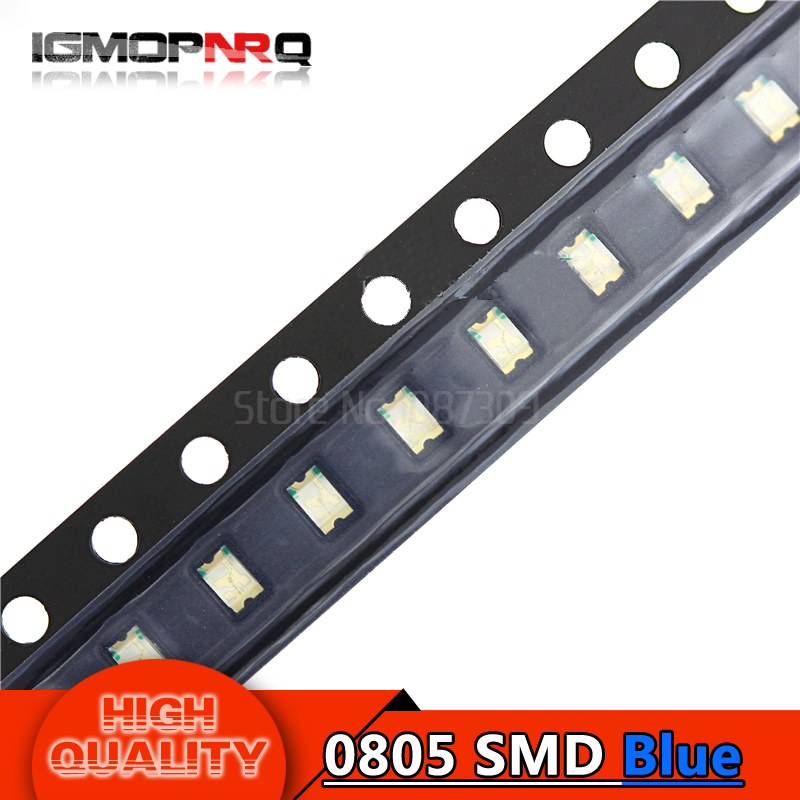 100pcs Blue 0805 SMD LED diodes light(China)
