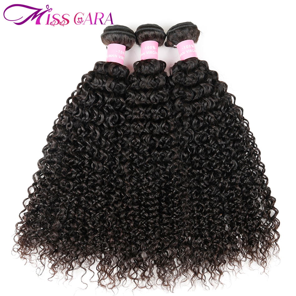Brazilian Kinky Curly Hair 3PCS/lot Deal 100% Human Hair Weave Bundles Miss Cara Non Remy Hair Weaves