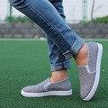 Zapatos de hombre gris fresco del pedal de los hombres del ocio de estilo Británico zapatos bajos zapatos transpirables y cómodos zapatos de los hombres ocasionales