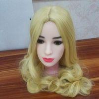 Pinklover белый цвет кожи секс куклы головка для 148 см до 170 см кукла 11 см deepth оральный секс реальные реалистичные голова с парик