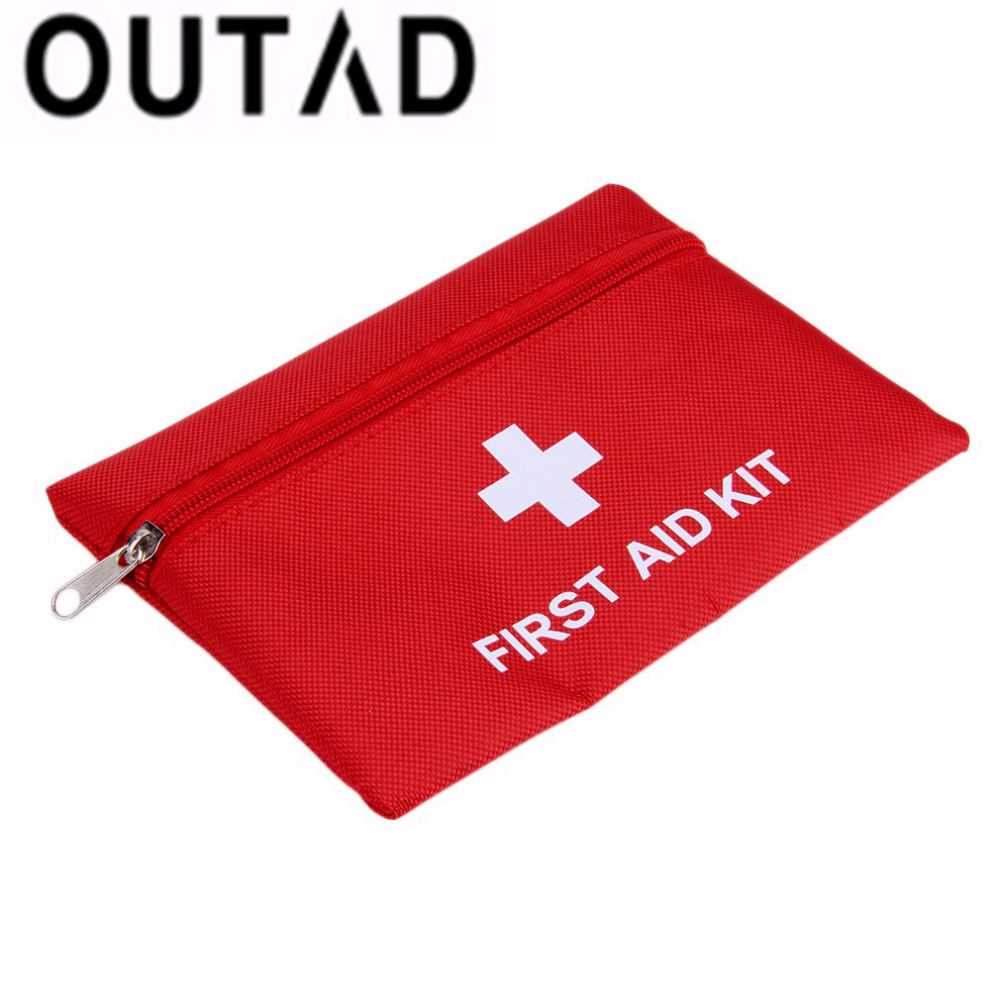 OUTAD 1.4L Portable Emergency First Aid Kit Pouch Bag Travel Rescue Medical Treatment Outdoor Hunting Camping First Aid Kit red 2l portable outdoor waterproof first aid bag medical life saving bag camping travel disaster relief first aid kit