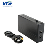 lithium battery powered mini ups power supply 9V 1A internet network devices ups for zte and xiaomi wireless adsl modem router