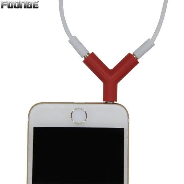 Headphone Splitter Adapter Plug Stereo Earphone Splitters Headphone Male To Dual Female Audio Cables