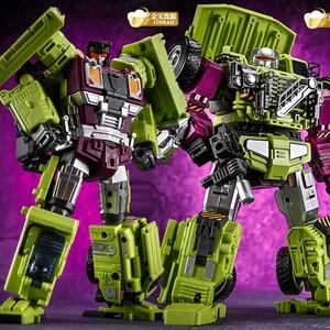 Image 4 - Jinbao GT Devastator Transformation G1 Oversize 6 IN1 Bonecrusher Scrapper Haul Mixmaster Hook KO Action Figure Robot Toys Gifts