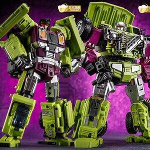 Image 4 - Jinbao GT Devastator dönüşüm G1 boy 6 IN1 Bonecrusher kazıyıcı mesafe Mixmaster kanca KO aksiyon figürü Robot oyuncaklar hediyeler