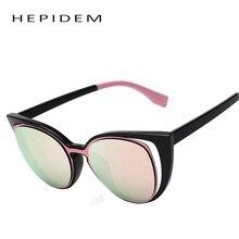 2017 сексуальные женщины известная марка дизайнер cateye солнцезащитные очки женщин cat глаз Солнцезащитные Очки Женский Розовый Зеркало Оттенки Украины с коробкой d