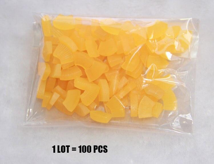 100 шт./лот, модные пластиковые поделки, имитация еды, мини Поддельные КУСОЧКИ АНАНАСА, детали для украшения дома, Миниатюрные аксессуары# DIY014