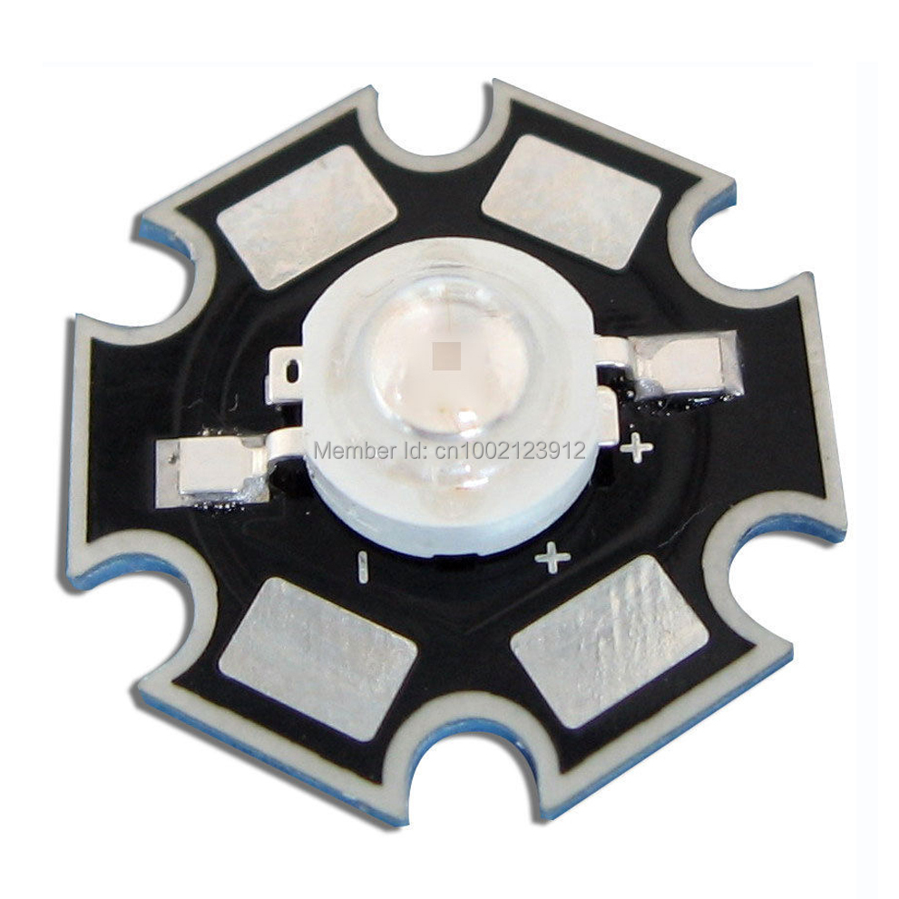 10pcs 1W 365nm~370nm High Power UV Ultraviolet LED light lamp Part With 20mm Star Base