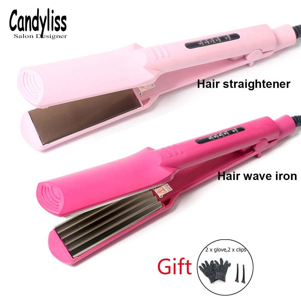 Temperature Control Corrugated Curling Hair Straightener Crimper, Fluffy Small Waves Hair Curlers Curling Irons Styling Tools hair straightener comb black straightening irons brush electronic corrugated curling styling tools