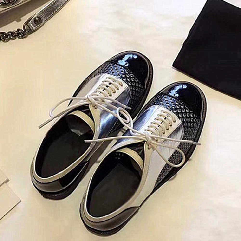DORATASIA yeni marka lüks Brogue ayakkabı bayanlar kaliteli hakiki deri daireler yaz 2019 nefes Hollow rahat ayakkabılar kadın