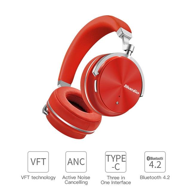Оригинальный Bluedio T4S активного шумоподавления беспроводные Bluetooth наушники на ухо portale наушники для xiaomi телефона android
