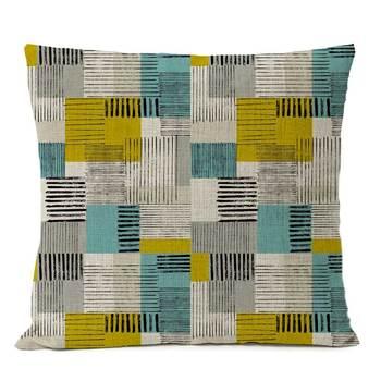 1950s geometric cushion cover