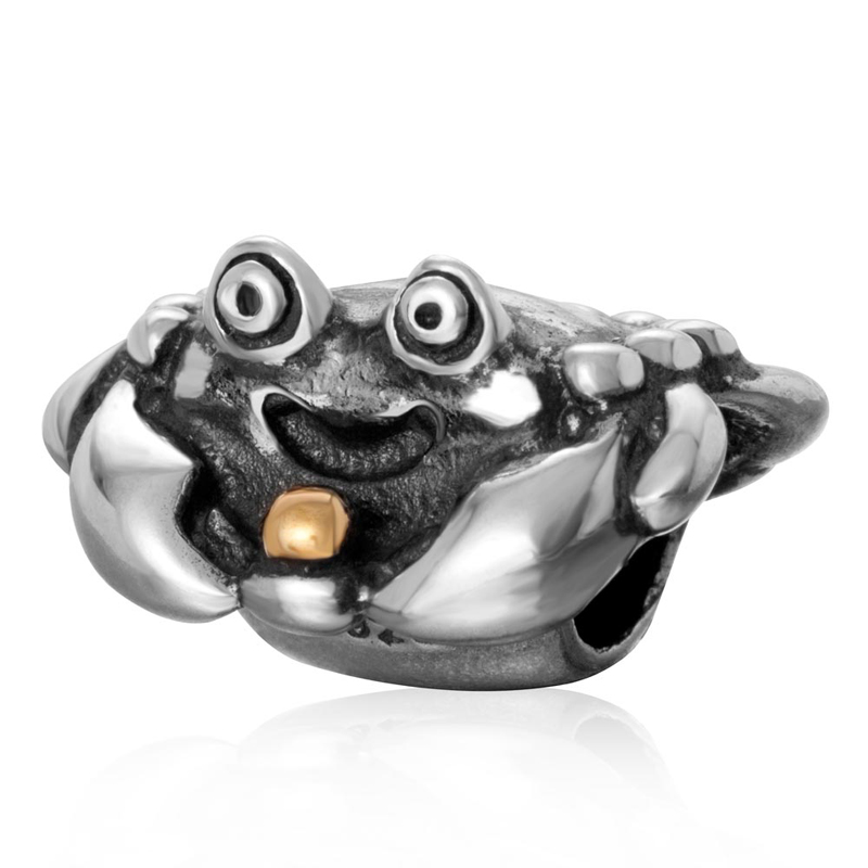 Fits Pandora charm Bracelet Original 925 sterling silver crab charms diy beads jewelry making Free shipping
