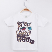 New Arrivals Children Clothing Boy Short Sleeve T-Shirt Girls T Shirts Clothes For Kids Tiger Print Tee Tops Boys Tshirt Costume