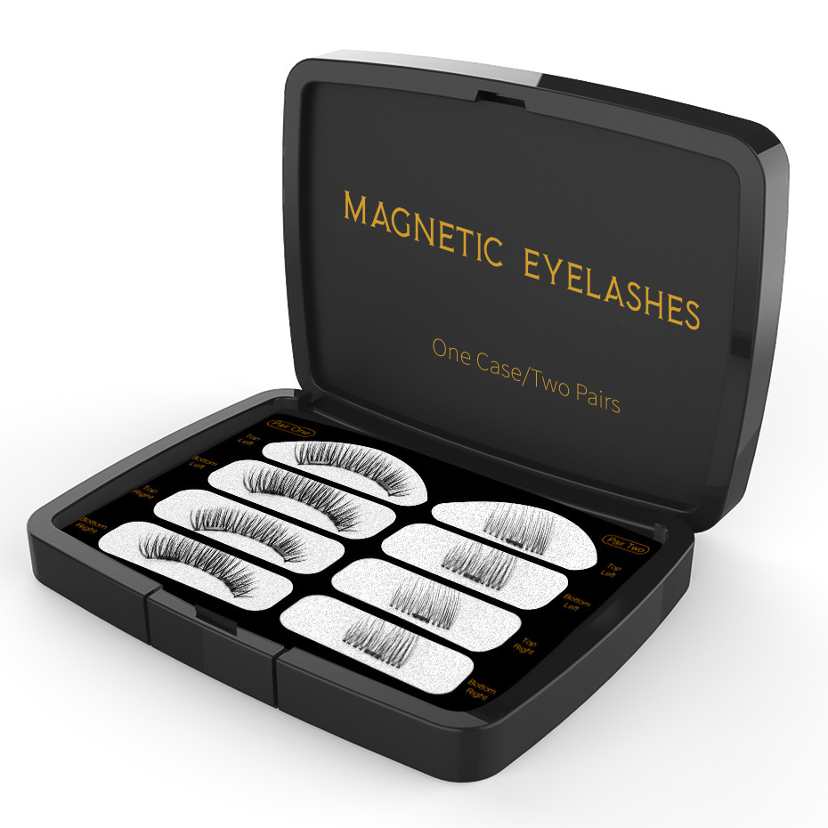 Genailish Magnetic Lashes 6D False Eyelashes Handmade Makeup Tool Eye Lashes Natural Long Magnet Eyelashes Acrylic Box SCT02