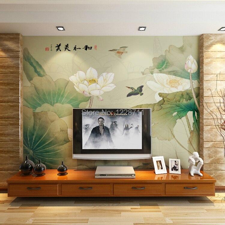 Magnete moderna murale foto sfondi fiori decorativi carta for Carta da parati cinese