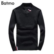 Batmo 2017 Men's new arrival fashion keep warm high quality cotton woolen sweater,black ,M,L.XL.XXL.
