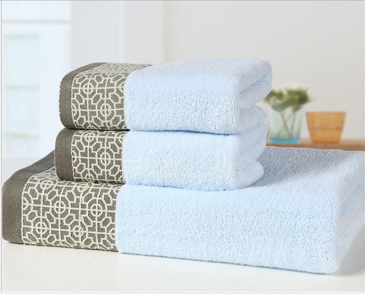 High Quality Untwisted Cotton Towel Set 3pcs 1pc Bath Towel + 2pcs Face Towel Printed Bathroom  Towels 3pcs Gift Set In Towel Sets From Home U0026 Garden On Aliexpress.com ...