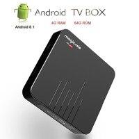 Magicsee Android TV Box Smart TV Amlogic S905X2 Android 8.1 IPTV Set Top Box N5 MAX Media Player DDR4 4GB/64GB 2.4G/5.8G WIFI BT