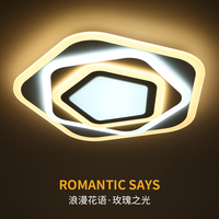 Rhombus Modern LED Chandelier Lights Lamp 24w 108w Dinning Room Bedroom Acrylic Metal Dimmable Pandent Hanging