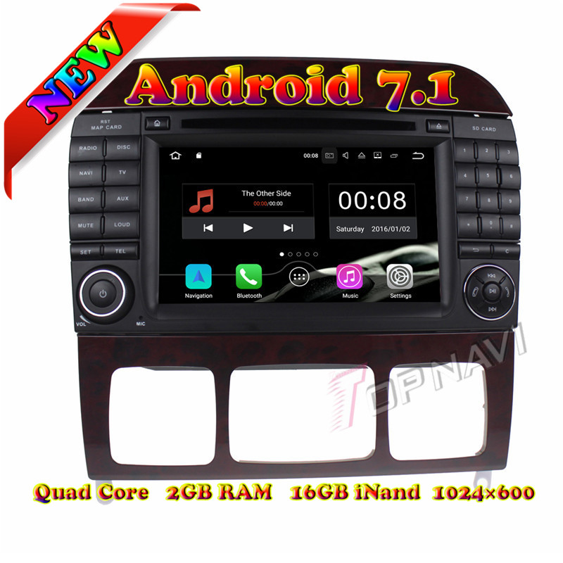 Topnavi Android 7.1 Car DVD Player Radio for Benz S Series R-W251/R280/R300/R320/R350/R500(2006-) Stereo GPS Naviagtion 2G+16GB