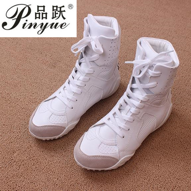 db995479807 Luxury brand Hip-hop dancing cool white Shoes Fashion Boots High Top  Trainers genuine leather martin Boots sneakers