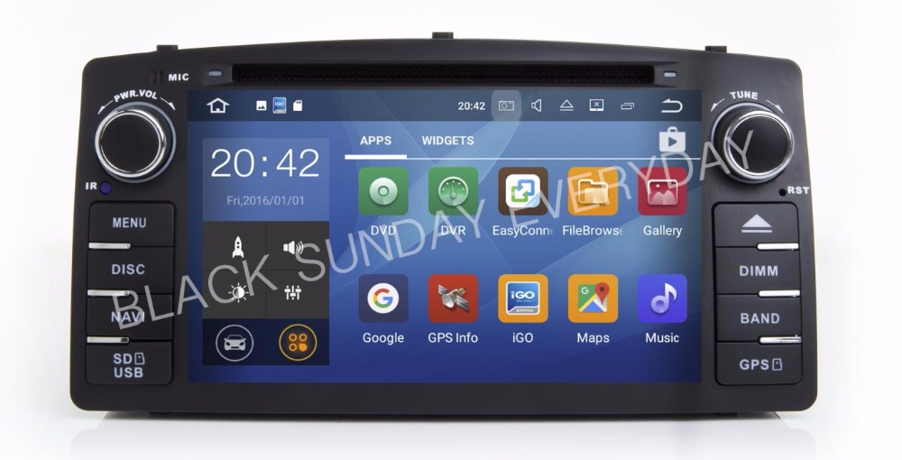 Octa/Quad Core Android 7.1/6.0 Fit Toyota Corolla E120 BYD F3 CAR DVD Player Multimedia Navigation GPS DVD RADIO STEREO AUDIO