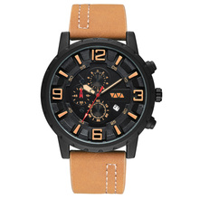 Men's Fashion Sport Watch Men Leather Waterproof Quartz Watches Male Date LED Analog Clock Relogio Masculino montre homme цены