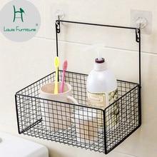 Луи Мода скандинавские минималистичные ванная комната стойка настенная корзинка железка для кухни