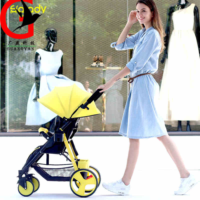 baby carriage 2017 Baby trolley portable umbrella stroller baby winter and summer folding stroller Wheels Four Wheel  SLD-TH58 four wheel stroller ultra portable pu leather umbrella car bb baby stroller capable of sitting and lying trolley suspension