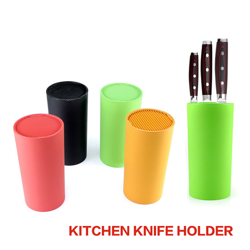 1PCS Yellow Green Red Black Tool Holder Multifunctional Plastic Tool Holder Knife Block Knife Stand Kitchen Accessories
