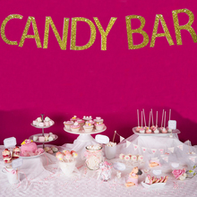 Bunting Banner Table Buffet Candy-Bar Happy-Birthday-Party Wedding Sweet Decor-Supplies