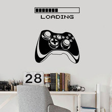Modern Home Decor Vinyl Plane Wall Decal Gaming Art Joystick Loading Video Game Stickers Mural Bedroom Decoration B647