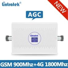 Lintretek 2019 NEW GSM 900 リピータ 4 グラム 1800 信号ブースター GSM 4 4G LTE の Ampli 4 グラム 2 グラム AGC ブースターデュアルバンド 70dB リピータ 900 1800