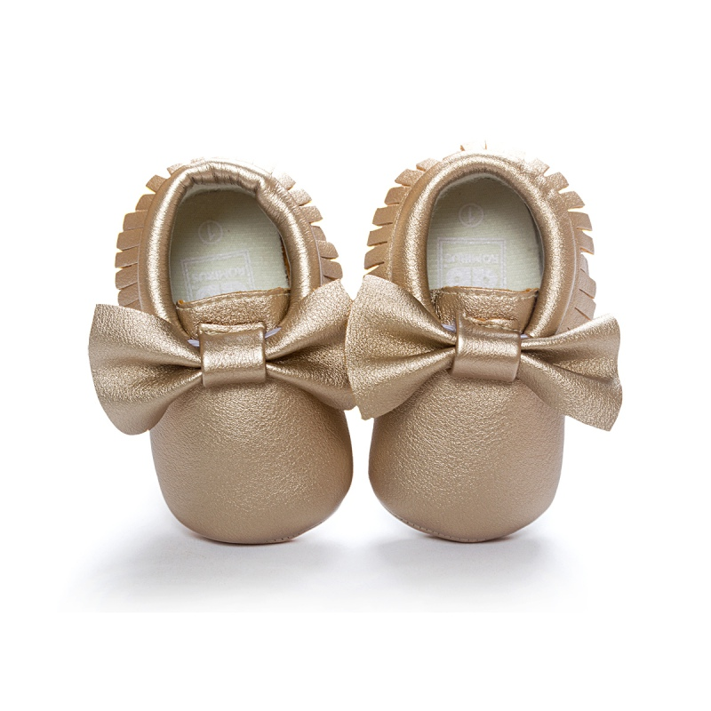 Unisex Baby Girls Boy 0-18Months Toddlers Soft Sole Shoes Tassel PU Leather Crib Bow Shoe First Walkers 14 Colors