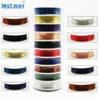 10pcs Roll 0 3mm Wholesale 25M Roll Alloy Copper Wires Cord Silver Gold Plated Craft Beads