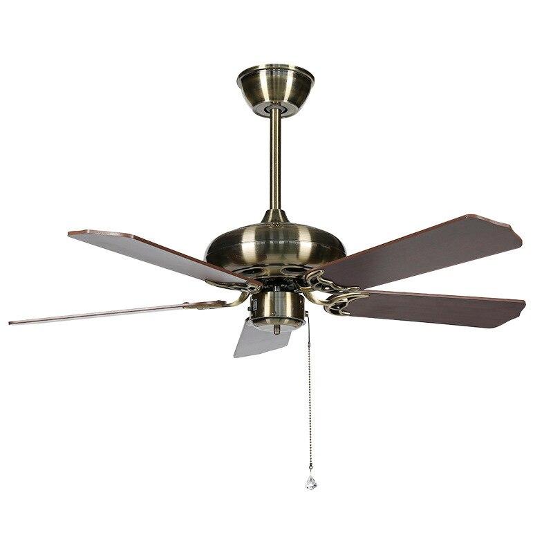 KY153 Modern retro home ceiling fan light Quality copper motor wood leaf ceiling fan light positive and negative adjustment цены