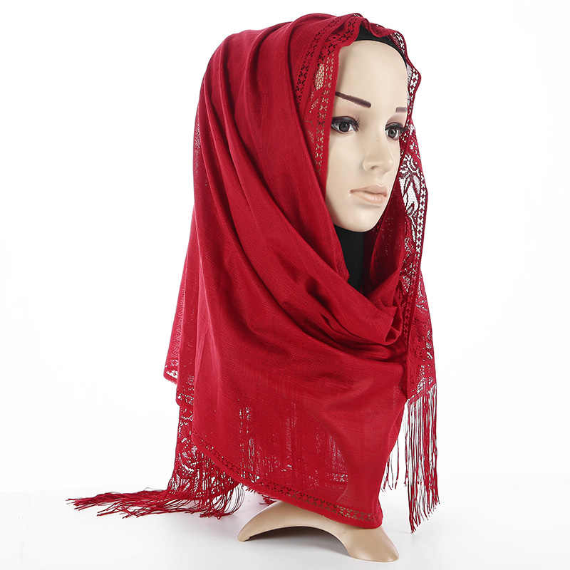 b11b7bd782b66 ... Badinka 2018 New Black White Premium Jersey Plain Cotton Hijab Scarf  Women Shimmer Muslim Head Hijab