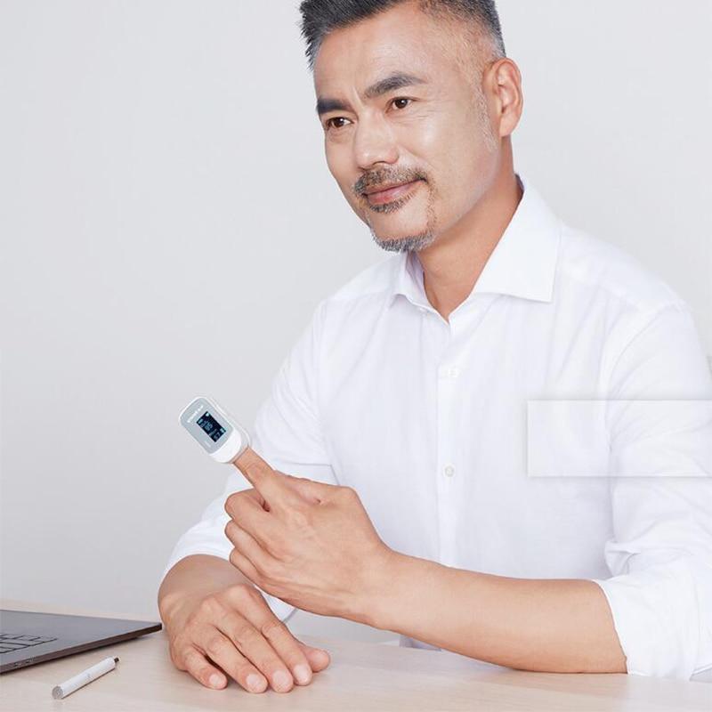 Xiaomi Original Yuwell Digital Fingertip Pulse Blood Oxygen OLED screen Care Blood Pressure for health Measure smart Home Kits