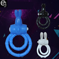 2017 New Silicone Vibrating Cock Ring Sex Toy Penis Ring Delay Ejaculation Sex Toys For Men Sex Products For Men Penis ELDJ223