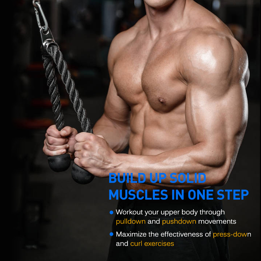 Triceps Rope Biceps Muscle Training Fitness Body Building Workout Pull Rope SL#
