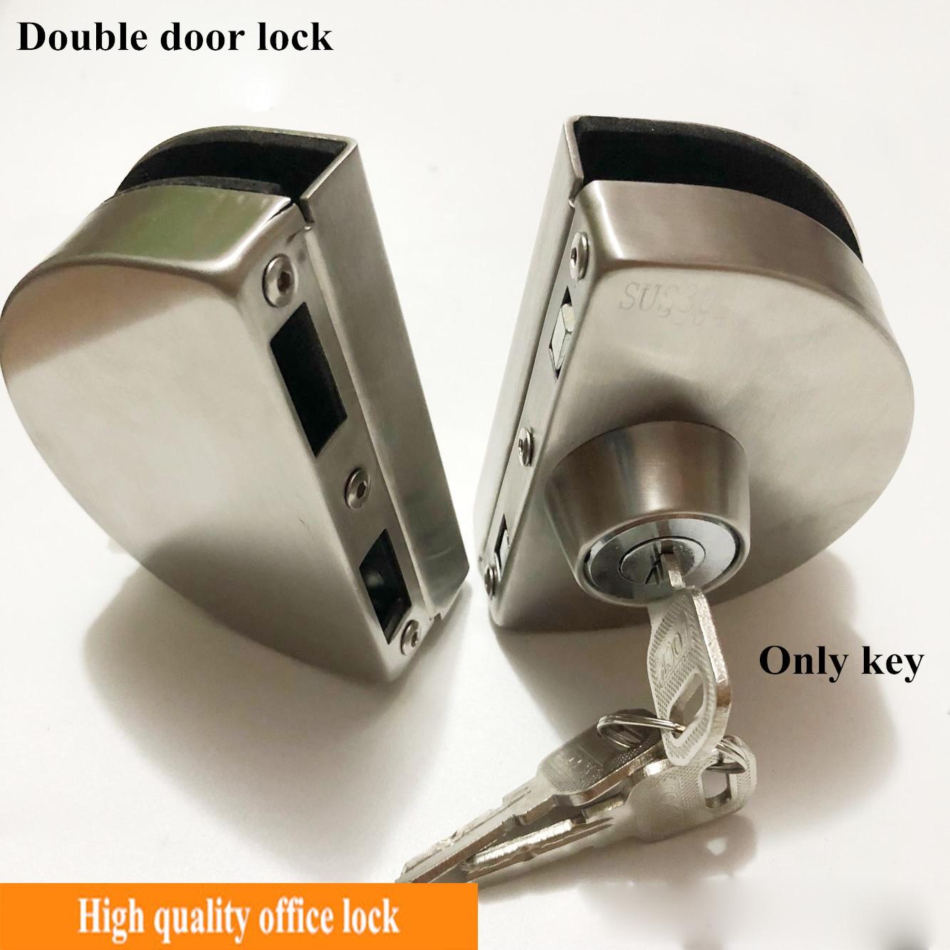 1 Set Double Open Glass Door Lock Stainless Steel Double Bolt Sliding Door Lock 10 12mm Office Glass Safety Door Locks Aliexpress