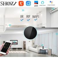 Google casa wi fi tuya voz contro ir rf 433mhz universal controle remoto inteligente para caixa de tv ventilador rf interruptor ar controle garagem