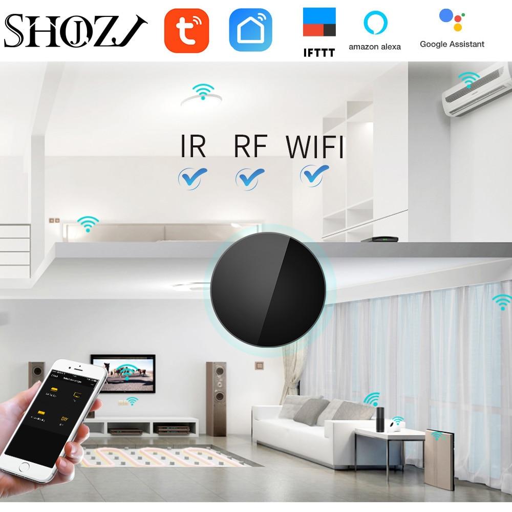 Google Home WIFI TUYA Voice Contro IR RF 433mhz Universal Intelligent Remote Control FOR Tv Box Fan RF Switch Air Garage Control