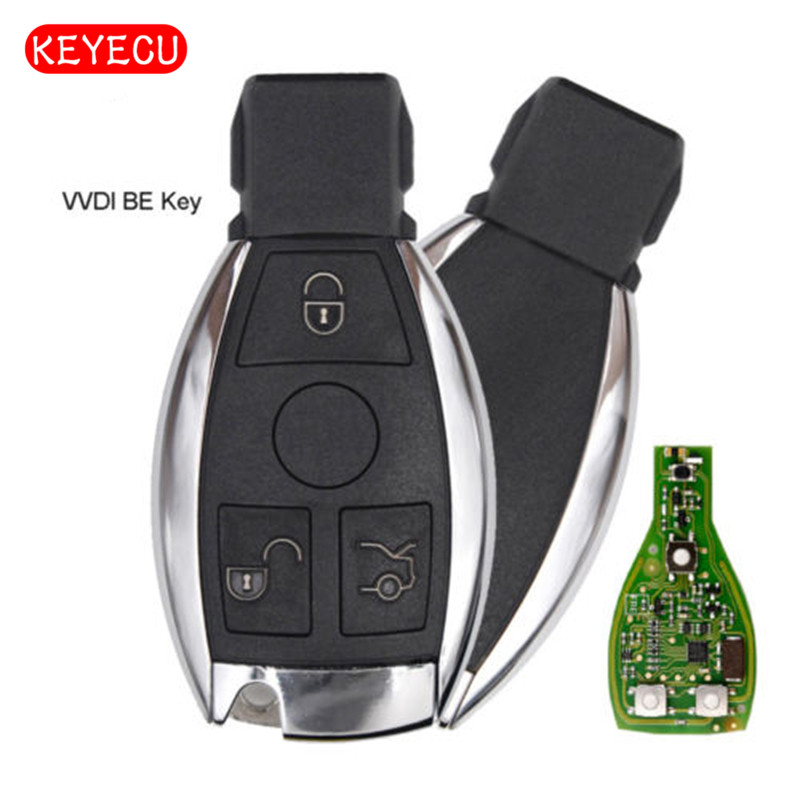 Keyecu Xhorse VVDI BE Key Pro Improved Version Complete Remote Key 315MHz/433MHz for Mercedes-Benz new updating smart key for benz 3 button 433mhz 315mhz easy to create a new key for mecerdes good quality