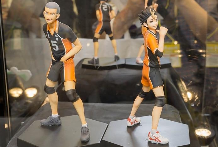 Anime Cartoon Original DXF Haikyuu!! Tanaka Ryunosuke Nishinoya Yuu Volleyball 14CM  PVC Action Figure Collectible Toy