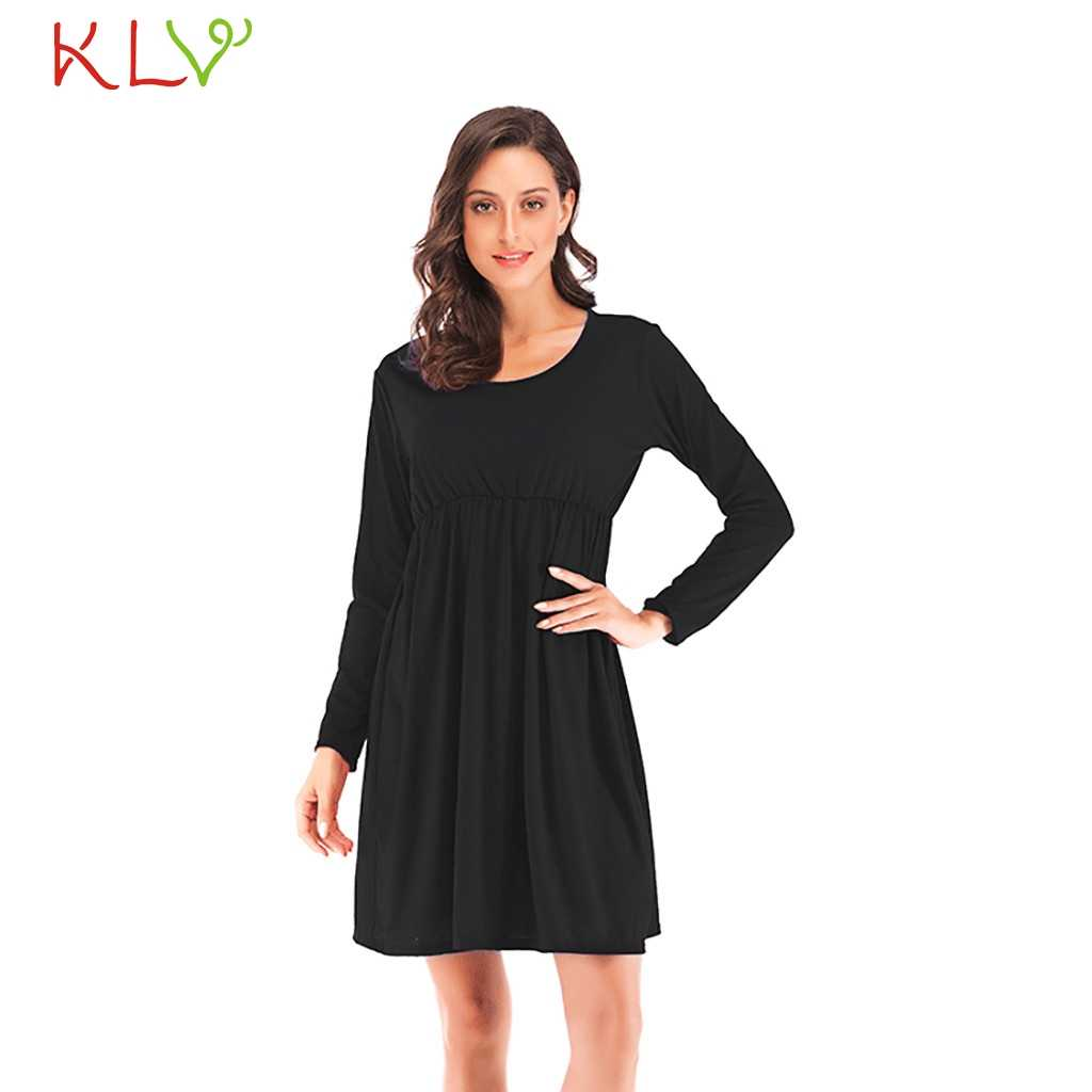 ae06a639a7 Detail Feedback Questions about Dress Women Black Casual Autumn ...